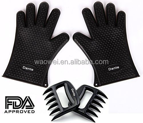 Dante Bear Claw Meat Claws Shredder Handlers Forks + Silicone Handschoenen