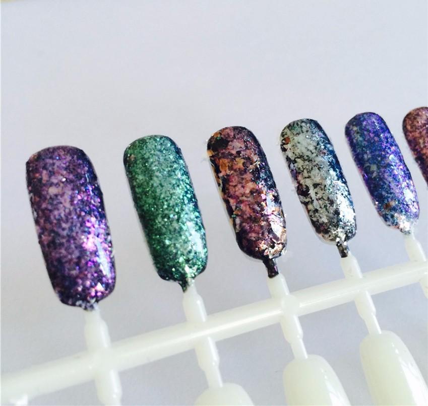 100g Diamond Pigments Irregular Flakes Shape Nail Glitter Magic ...