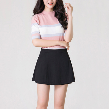 cheap wholesale ladies clothes girl tight black short sexy mini skirt