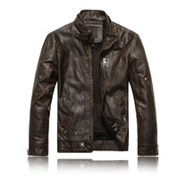 Men Motorcycle Leather jackets 2017 New Fashion Brand Men's Autumn Winter Fleece Leather jacket Jaqueta De Couro Masculina M-3XL