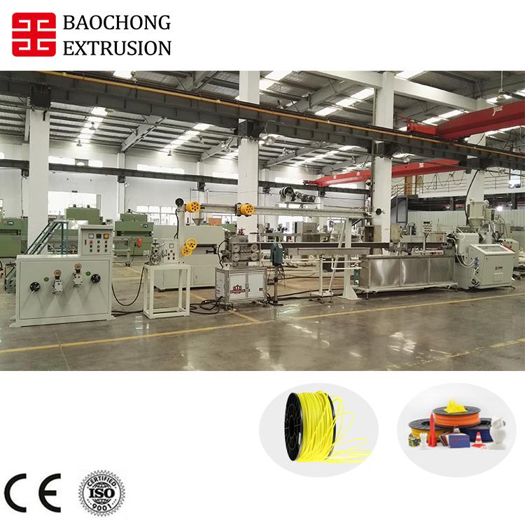Kunststoff-Extruder 3D-Drucker-Filament-Extrusionslinie mit hervorragendem Service