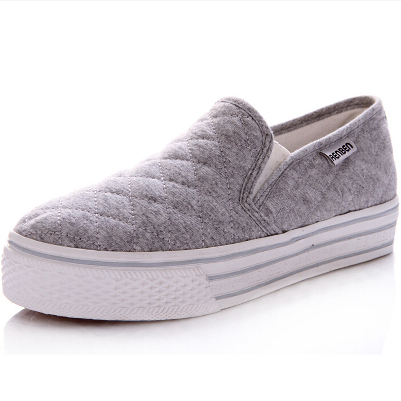 2015  women breathable plain canvas shoes platform lace up fashion sneakers flat summer style spring autumn free shpping