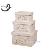 wholesale unfinished solid lid cheap solid wood box