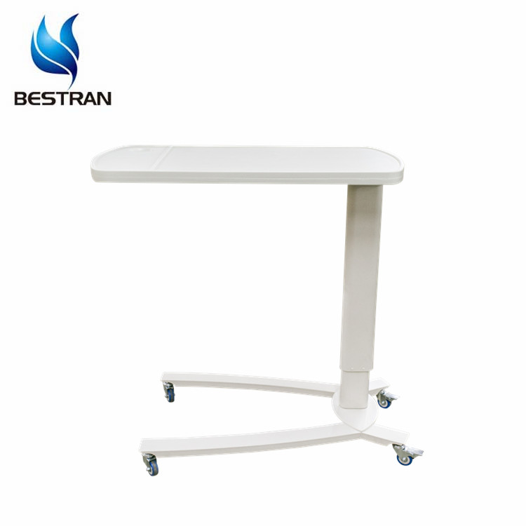 BT-AT001 Hospital Furniture Factory ABS Height Adjustable <strong>Medical</strong> Food <strong>Table</strong> Patient Overbed Dining <strong>Table</strong> On Bed Price