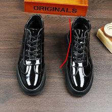 Кроссовки на шнуровке; кроссовки для подиума; Брендовые мужские кроссовки на резиновой подошве, увеличивающие рост; итальянская повседневн...(Китай)