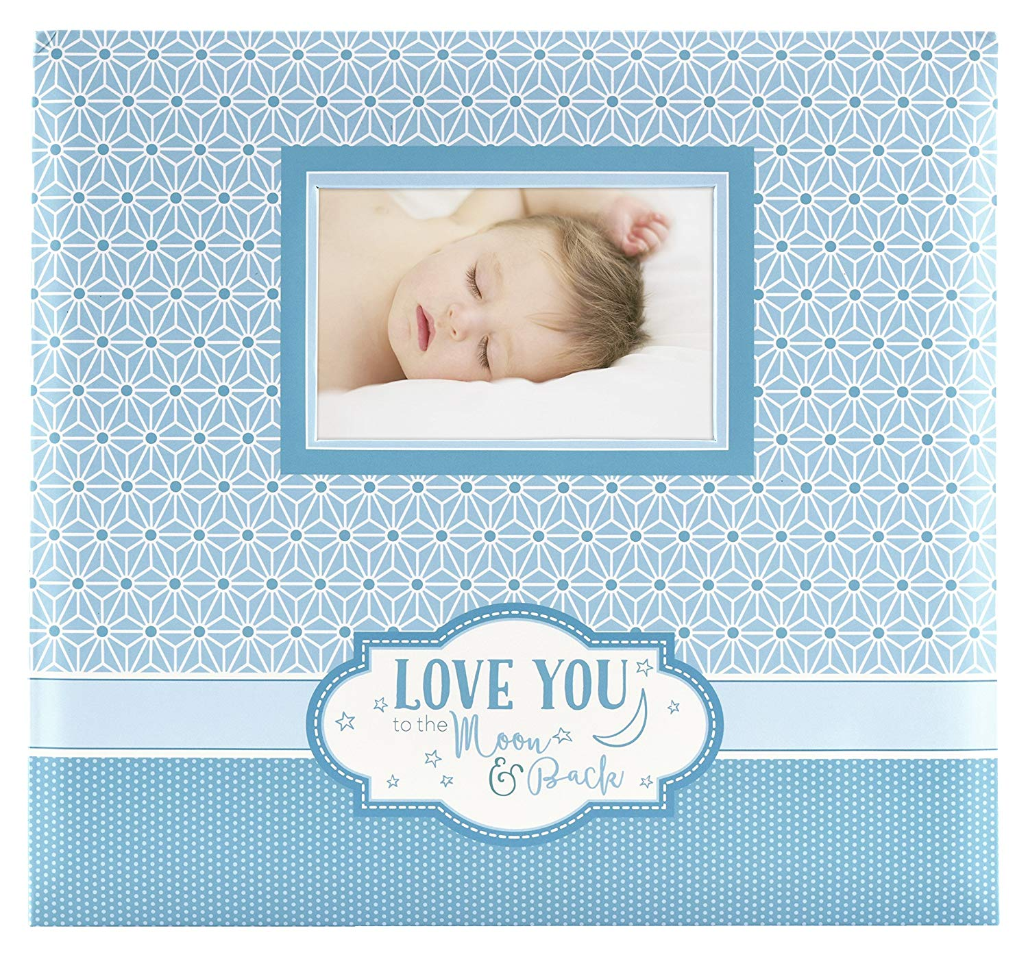 850033 MCS MBI 13.5x12.5 Inch Baby Theme Scrapbook Album with 12x12 Inch Pages with Photo Opening Pink