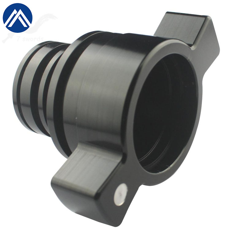 0.01mm tolerance 5 axsis black anodized aluminum precision <strong>cnc</strong> turning and milling machine part for motorcycle