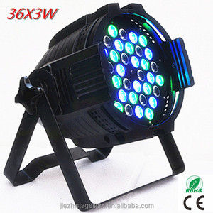 high lumen output dmx 512 led par 64 light 36x3w