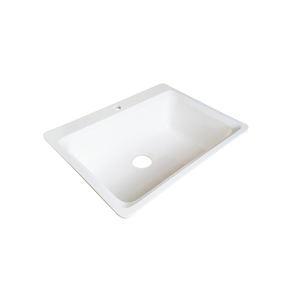 cheap acrylic stone basin above counter apron kitchen sink