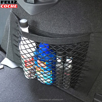 Car Styling Net Bag Strong Magic Tape Car Seat Back Storage Poly Mesh Net Bags