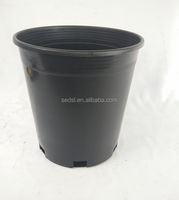 1 gallon nursery pots,black plastic nursery flower pots,black plastic tree pots