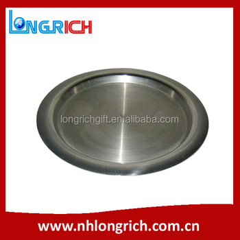 Wholesale Round Stainless Steel Serving Tray / Metal Food tray