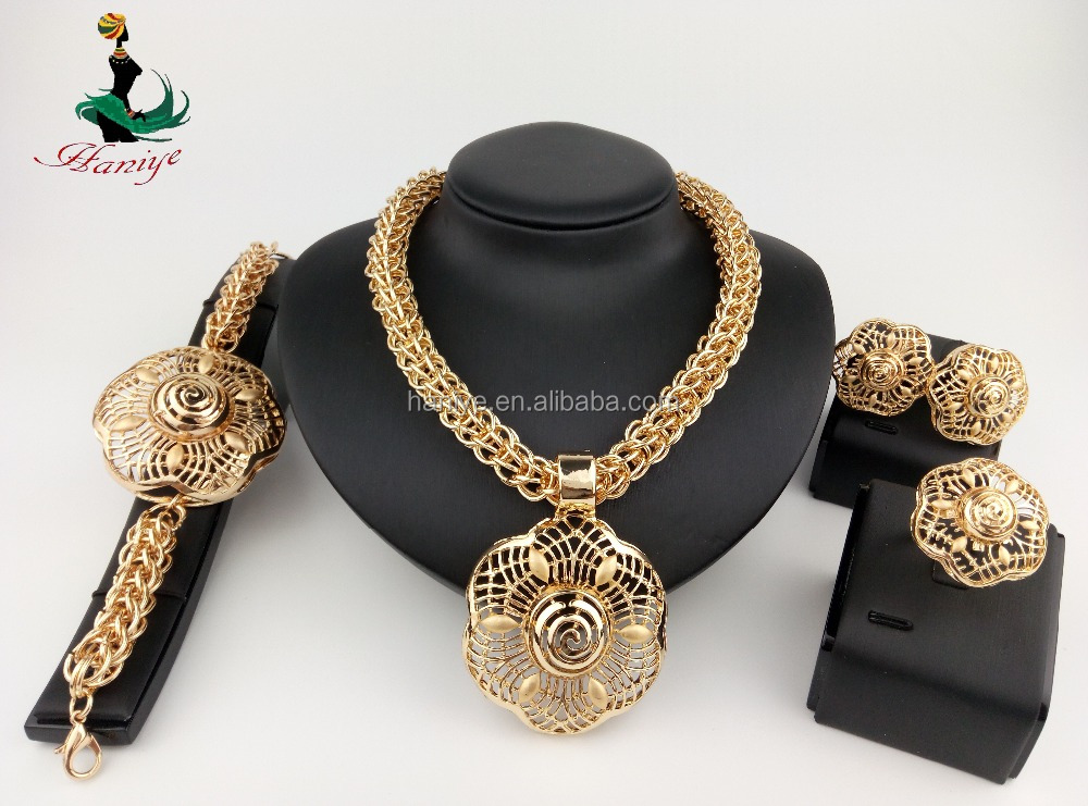 Haniye Elegant Fashion Jewelry Sets Jewelry Sets 18K gold plated jewerly sets for women