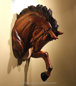 factory custom-made high quality resin horse head figurine