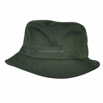 3ae637fa443 Olive autumn winter warm wind proof dark green wholesale promotion blank  cotton custom bucket hats women