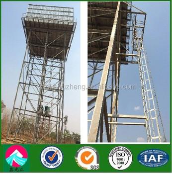Struktur Baja Bingkai Galvernised Platform Untuk Tangki Air Panas