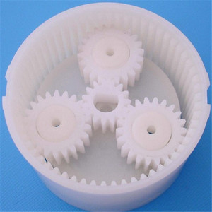 OEM small black high-precision nylon plastic gears for toys