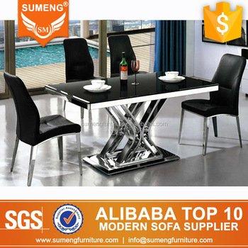 2017 American Style Cheap Vogue Marble Stainless Steel Dining Table ...