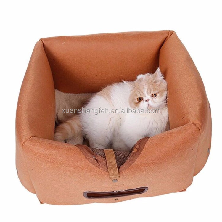 Handmade Felted Merino Wool House for Cats and Kittens and Dogs