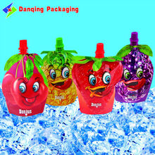 Chaoan flexible packaging, packaging plástico stand up pouch con caño jugo, plastic packaging