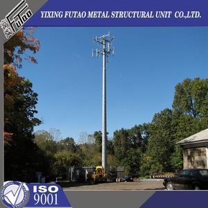 High quality galvanized self supporting gsm telecommunication pole tower