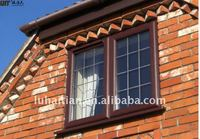 Conch profile pvc windows and doors with decorative grids manufacturer