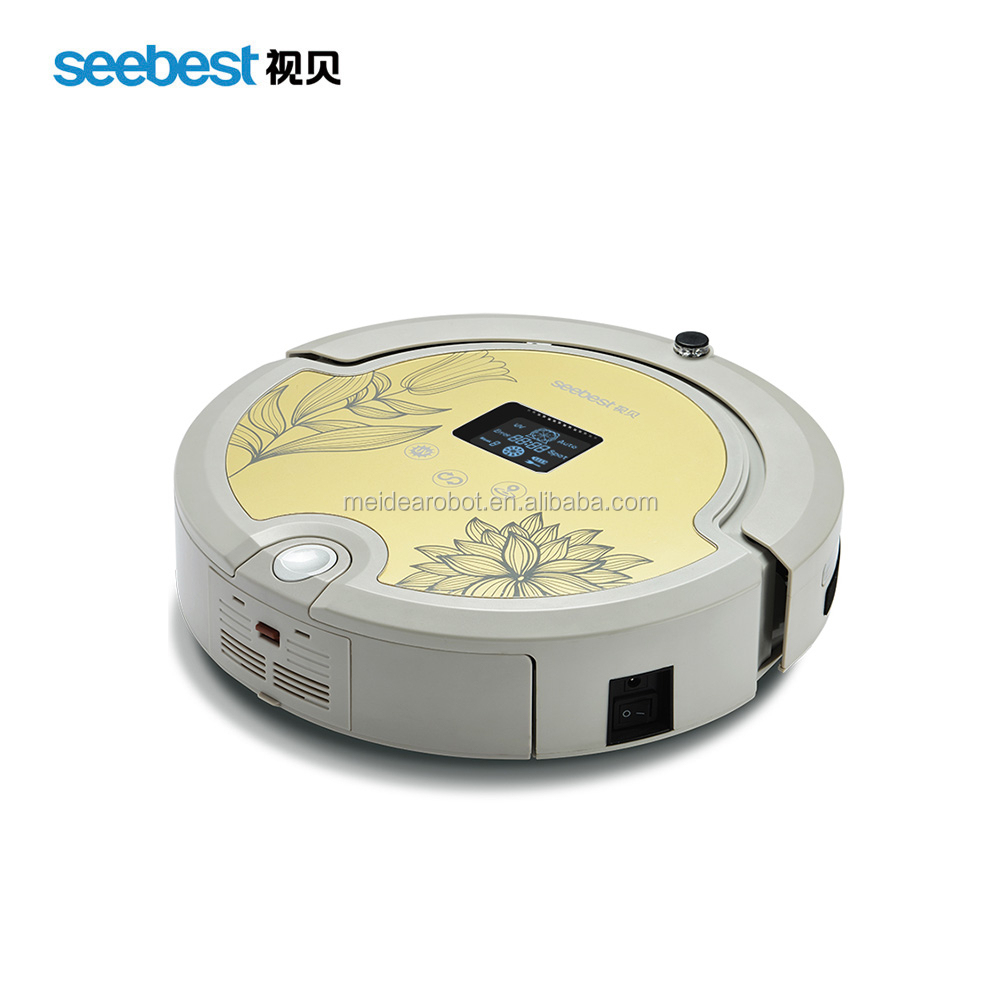 Seebest C571 Newest Robot Vacuum Cleaner With V-shaped Rolling brush,Sonic Wall,Portable Mini Vacuum Cleaner