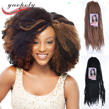 Wholesale Cheap Afro Kinky Curly Twist Braids Synthetic Marley