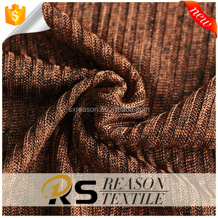 Wholesale 95% poly 5% spandex 3+1 rib knitting fabric for cloth