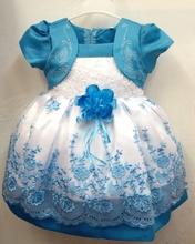 1pcs sells 2016 Korean fashion Fake 2 piece baby girls dress girl flower baby kids clothes