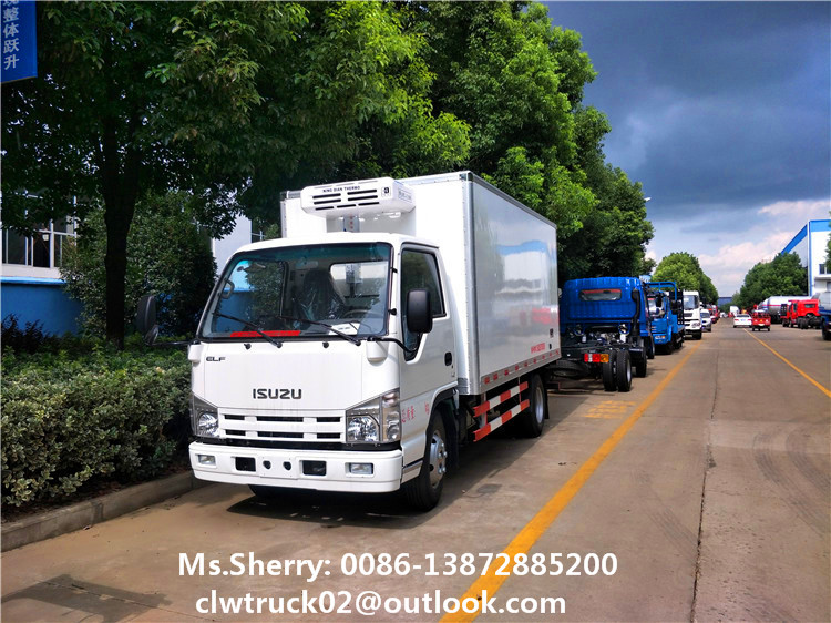 I Suzu 3 Tons Refrigerator Cooling Van Truck Ice Delivery Truck With Us  Brand Thermo King Reefer Unit - Buy I Suzu 3 Tons Refrigerator Cooling Van