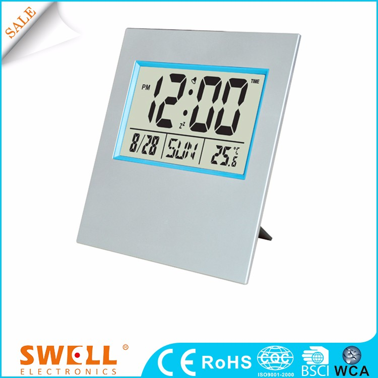 Wholesale Bsci Desk Temperature Alarm Digital Clock With Second For Desktop