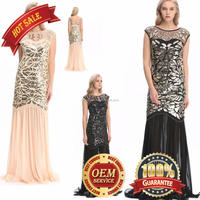 BestDance wedding dress 2017 luxury fully beaded dress front and back Gatsby Party Art Deco Evening Dress