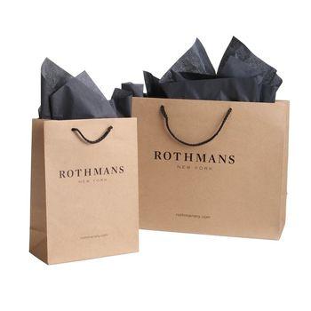 Clothing Packaging Custom Printing Paper Bags With Rope Handle