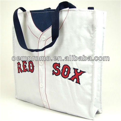 Popular baseball jersey tote bag, Eco-friendly Canvas tote bag