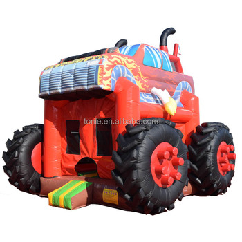 Big Used Commercia Inflatable Monster Truck Bouncer Inflatable Boys