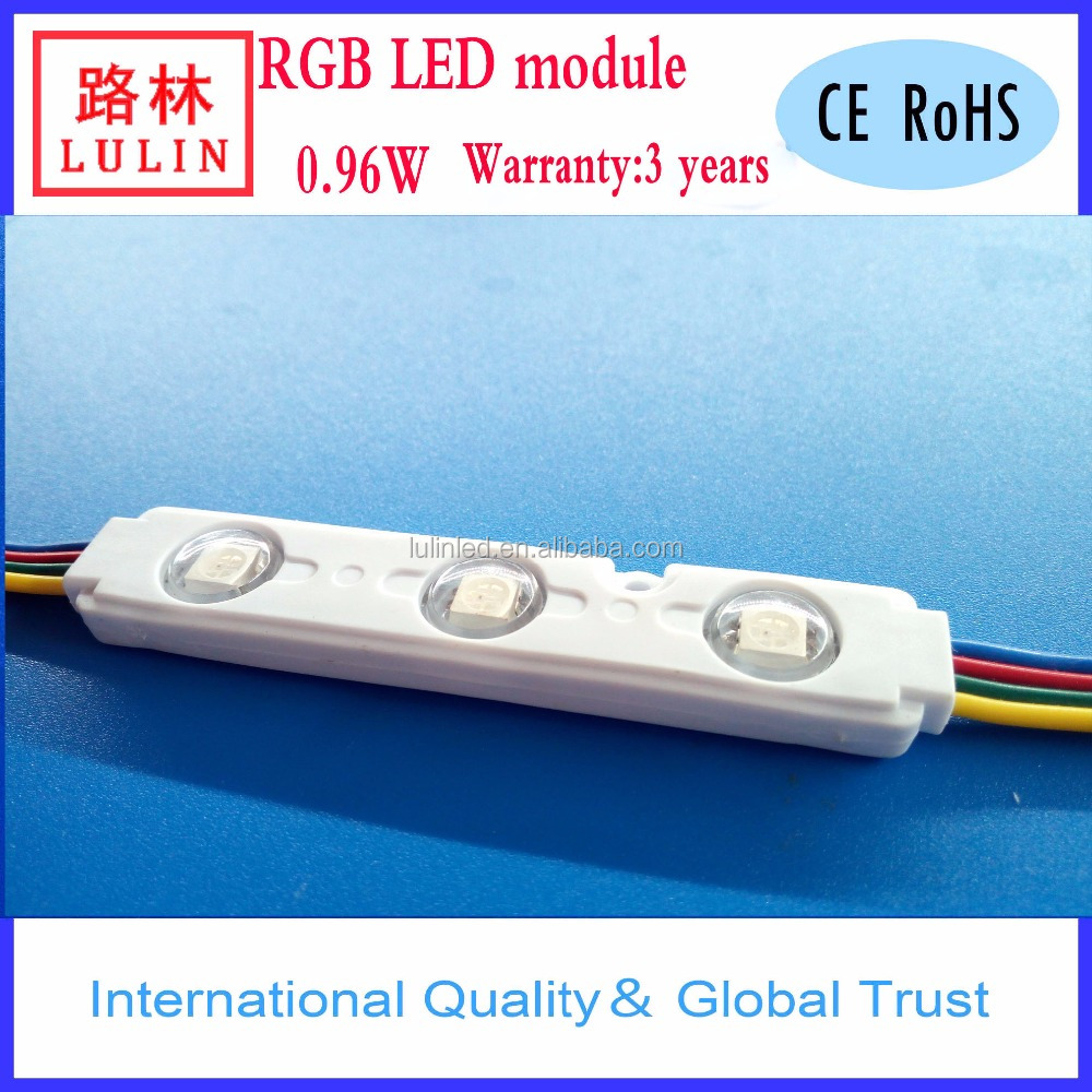 Brand Name: Lulin 3 leds outdoor 5050 pixel waterproof color changeable RGB led module