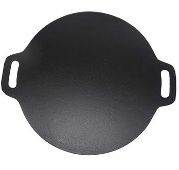 Diameter 28cm Flat Preseasoned cast iron cookware frying pan/fry pans with two handle FDA approved
