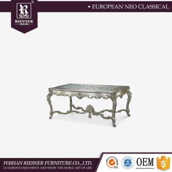 Elegant dining table with glass top Hand carving wooden dining table Dining room furniture