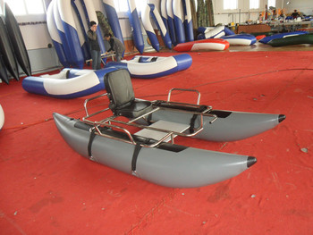 285cm inflatable pontoon fishing boat for sale buy for Inflatable fishing boats for sale