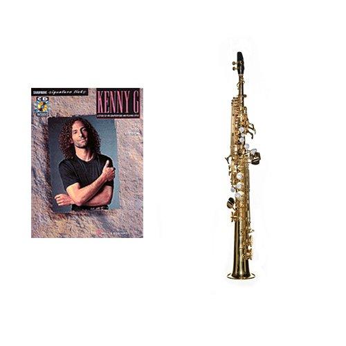 Intermediate Soprano Sax Play Along Pack- Kenny G Signature Licks Book & Soprano Sax w/Case, Accessories & Warranty