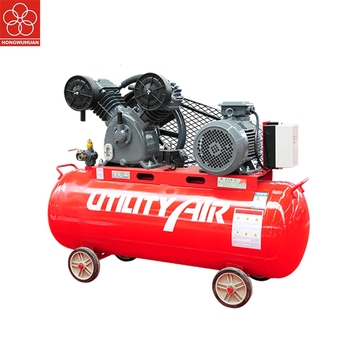 HONGWUHUAN KV5508 belt driven 4kw 5.5hp portable piston air compressor with big tank
