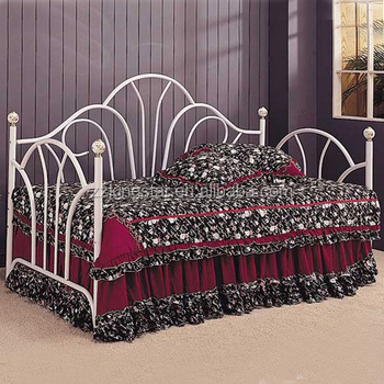 Wrought Iron Metal Futon Sofa Divan Bed