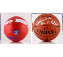Customized Clear Acrylic Perspex Basketball or Soccer Ball Display Case