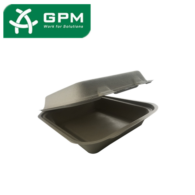100% Bidegradable Disposable Paper Pulp Food Trays With Lamination
