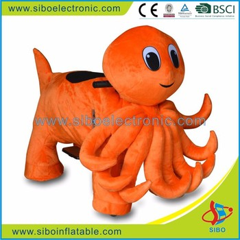 China squid toy market dubai coin operated animal ride on car
