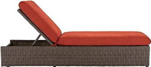 "Naples Chaise, 22-36.5""Hx27.5""Wx79.5""L, BROWN SPICE"