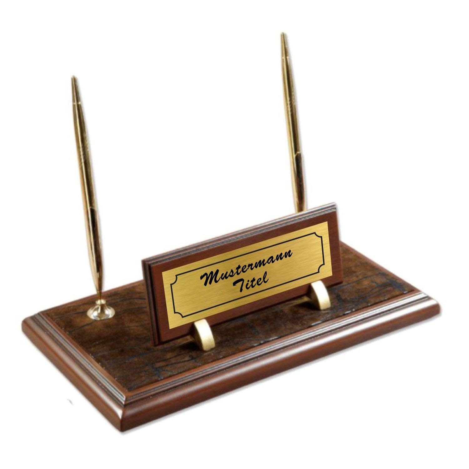 Buy Personalized Business Desk Name Plate with Card Holder