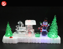 Hot Sale mold christmas tree led lighting glass acrylic gold supplier