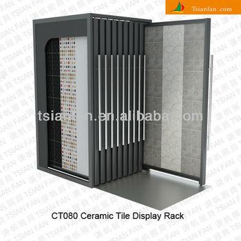 Ct080 Ceramic Tile Vertical Sliding Display Stand Rack